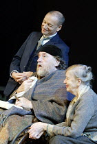 'THE SEAGULL' (Chekhov)   (director: Steven Pimlott)~(rear) Michael Feast (Dorn), Desmond Barrit (Sorin), Darlene Johnson (Polina)~Chichester Festival Theatre / West Sussex, England        07/08/2003