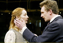 'THE SEAGULL' (Chekhov)~Emma Lowndes (Nina), Colin Tierney (Trigorin)~Royal Exchange Theatre, Manchester     12/03/2003