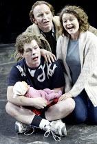 'SKELLIG' (David Almond - director: Trevor Nunn)~l-r: Kevin Wathen (Michael), Antony Byrne (Dad), Cathryn Bradshaw (Mum)~The Young Vic   London SE1                   03/12/2003