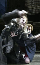 'SKELLIG' (David Almond - director: Trevor Nunn)~David Threlfall (Skellig), Kevin Wathen (Michael)~The Young Vic   London SE1                   03/12/2003