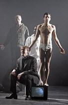 'A CHILD OF OUR TIME' (Tippett - conductor: Martyn Brabbins   director: Jonathan Kent   ,design: Paul Brown   lighting: Mark Henderson),Timothy Robinson (Tenor) with Ishwar Maharaj (Actor),English Nat...