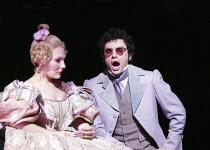 'LES CONTES D'HOFFMANN' (Offenbach - production: John Schlesinger   conductor: Richard Hickox)~Ekaterina Siurina (Olympia), Rolando Villazon (Hoffmann)~The Royal Opera /   Covent Garden, London WC2...