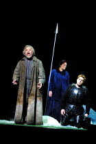 'PARSIFAL' (Wagner)~l-r: John Tomlinson (Gurnemanz), Violeta Urmana (Kundry), Stig Andersen (Parsifal) ~The Royal Opera/Covent Garden, London WC2     08/12/2001