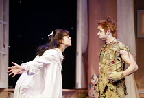 'PETER PAN' (J.M. Barrie)~Rachel Ferjani (Wendy), Simon Trinder (Peter Pan)~Birmingham Repertory Theatre / Birmingham, England                     05/12/2002