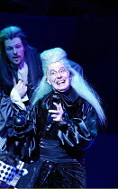 Richard Wilson (Captain James Hook) in PETER PAN - A MUSICAL ADVENTURE at the Royal Festival Hall, London SE1  19/12/2002~based on the story by J.M. Barrie  music: George Stiles  lyrics: Anthony Drewe...