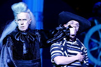 l-r: Richard Wilson (Captain James Hook), David Bamber (Smee) in PETER PAN - A MUSICAL ADVENTURE at the Royal Festival Hall, London SE1  19/12/2002 based on the story by J.M. Barrie  music: George St...