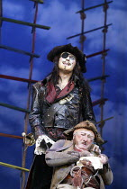 'PETER PAN' (J.M.Barrie - director: Steven Dexter)~(top) Anthony Head (Captain Hook), Jack Chissick (Smee)~Savoy Theatre, London WC2                  17/12/2003