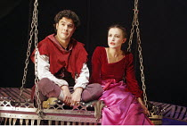 'SLEEPING BEAUTY' (writer/director: Rufus Norris),James Loye (The Prince), Lyndsey Marshal (Beauty),Young Vic Theatre Company / Barbican Theatre, London EC2                       17/12/2004,