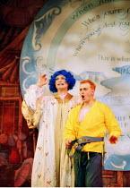 'ALADDIN'~l-r: Christopher Scott (Widow Twankey), Neil Rutherford (Wishee Washee)~Oxford Playhouse  02/12/2000