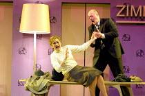 'FROM MORNING TO MIDNIGHT' (Sawer/Kaiser) at the Hotel: Kathryn Harries (Lady), John Daszak (Cashier) English National Opera, London  27/04/2001