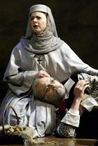 'GALILEO GALILEI' (Glass/Zimmerman/Weinstein)~Carl Halvorson (Older Galileo), Alicia Berneche (Older Maria Celeste)~The Goodman Theatre / BITE:02   Barbican Theatre, London EC2                    01/1...