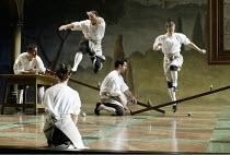 'GALILEO GALILEI' (Glass/Zimmerman/Weinstein)~demonstrating scientific principles~The Goodman Theatre / BITE:02   Barbican Theatre, London EC2                    01/11/2002