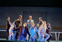 'THE LAST SUPPER' (Birtwistle/Blaser) rear centre: William Dazeley (Jesus) Glyndebourne Touring Opera  21/10/2000