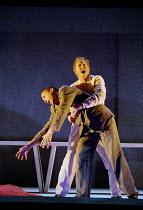 'THE LAST SUPPER' (Birtwistle/Blaser) l-r: Thomas Randle (Judas), William Dazeley (Jesus) Glyndebourne Touring Opera  21/10/2000