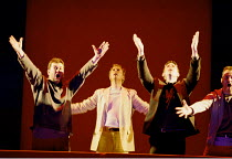 'THE LAST SUPPER' (Birtwistle/Blaser) rear centre: William Dazeley (Jesus) with disciples Glyndebourne Touring Opera  21/10/2000