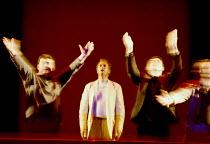 'THE LAST SUPPER' (Birtwistle/Blaser) centre: William Dazeley (Jesus) with disciples Glyndebourne Touring Opera  21/10/2000