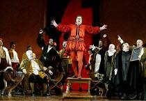 'DIE MEISTERSINGER VON NURNBERG' (Wagner)~end Act I:   seated, left: Jan-Hendrik Rootering (Hans Sachs)   centre: Robert Dean Smith (Walther von Stolzing)   2nd from right: Eike Wilm Schulte (Sixtus B...