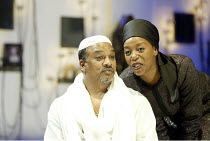 'NATHAN THE WISE' (Gotthold Lessing/Edward Kemp)~Jeffery Kissoon (Saladin), Noma Dumezweni (Sittah)~Minerva Theatre / Chichester, England   01/05/2003