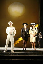 AGRIPPINA   by Handel   conductor: Daniel Reuss   director: David McVicar <br>,l-r: Reno Troilus (Ottone), Lucy Crowe (Poppea), Sarah Connolly (Agripinna) ,English National Opera / London Coliseum  WC...