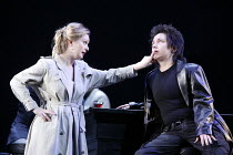 AGRIPPINA   by Handel   conductor: Daniel Reuss   director: David McVicar <br>,l-r: Lucy Crowe (Poppea), Christine Rice (Nerone / Nero) ,English National Opera / London Coliseum  WC2...