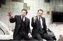 THE DUMB WAITER   by Harold Pinter   director: Harry Burton <br>,l-r: Lee Evans (Gus), Jason Isaacs (Ben),Trafalgar Studios 1, London SW1                       08/02/2007        ,