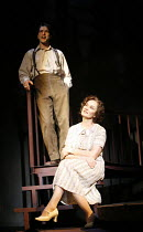 THE GLASS MENAGERIE   by Tennessee Williams   director: Rupert Goold <br>,Ed Stoppard (Tom Wingfield), Jessica Lange (Amanda Wingfield),Apollo Theatre, London W1         13/02/2007,