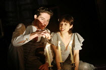 THE GLASS MENAGERIE   by Tennessee Williams   director: Rupert Goold <br>,Mark Umbers (A Gentleman Caller), Amanda Hale (Laura Wingfield),Apollo Theatre, London W1         13/02/2007,