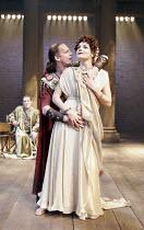 SEJANUS: HIS FALL   by Ben Jonson - director: Gregory Doran,l-r: Nigel Betts (Eudemus), William Houston (Sejanus), Miranda Colchester (Livia),Royal Shakespeare Company / Trafalgar Studios, London WC2...