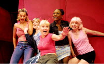 'THE SHAGAROUND' (Nevill) l-r: Luisa Bradshaw-White (Lisa), Elizabeth Berrington (Sal), Toyah Willcox (Beth), Diane Parish (G),Veronica Quilligan (Dilly)  Soho Theatre, London W1   27/07/2001