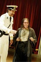 l-r: Joe Dixon (Mendoza), Antony Sher (Giovanni Altofronto, deposed Duke of Genoa disguised as Malevole) in THE MALCONTENT by John Marston at the Royal Shakespeare Company (RSC), Swan Theatre, Stratfo...