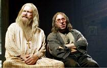l-r: Colin McCormack (Pietro, Duke of Genoa), Antony Sher (Giovanni Altofronto, disguised as Malevole) in THE MALCONTENT by John Marston at the Royal Shakespeare Company (RSC), Swan Theatre, Stratford...