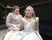 'THE MARRYING OF ANN LEETE' (Granville Barker - director: Sam Walters)~Jack Sandle (Abud), Octavia Walters (Ann)~Orange Tree Theatre, Richmond, Surrey, England         03/09/2004