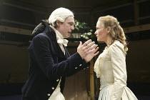 'THE MARRYING OF ANN LEETE' (Granville Barker - director: Sam Walters)~David Leonard (Lord John), Octavia Walters (Ann)~Orange Tree Theatre, Richmond, Surrey, England         03/09/2004