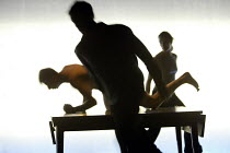 MNEMONIC  conceived and directed by Simon McBurney  devised by the Company  design: Michael Levine  lighting: Paul Anderson   company/silhouette Theatre de Complicite, Riverside Studios, London W6...