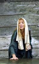 'THE LADY FROM THE SEA' (Ibsen - director: Trevor Nunn)~emerging from the sea: Natasha Richardson (Ellida)~Almeida Theatre, London N1                   15/05/2003