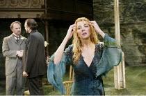 'THE LADY FROM THE SEA' (Ibsen - director: Trevor Nunn)~l-r: Tim McInnerny (Arnholm), John Bowe (Dr Wangel), Natasha Richardson (Ellida), ~Almeida Theatre, London N1                   15/05/2003