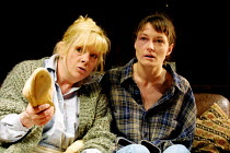 'A LIE OF THE MIND' (Shepard)~l-r: Anna Calder-Marshall (Meg), Catherine McCormack (Beth)~Donmar Warehouse, London WC2    04/07/2001
