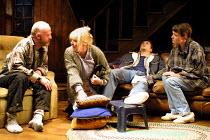 'A LIE OF THE MIND' (Shepard)~l-r: Keith Bartlett (Baylor), Anna Calder-Marshall (Meg), Peter McDonald (Frankie), Catherine McCormack (Beth)~Donmar Warehouse, London WC2    04/07/2001