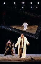 'LIFE IS A DREAM' (de la Barca) (director: Calixto Bieito) l-r: George Anton (Segismundo), (rear) Olwen Fouere (Rosaura),  Jeffery Kissoon (Basilio) Royal Lyceum Theatre, Edinburgh   08/1998