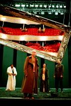 'LIFE IS A DREAM' (de la Barca) (director: Calixto Bieito) l-r: Jeffery Kissoon (Basilio), George Anton (Segismundo),  Olwen Fouere (Rosaura), Simon Turner (Soldier) Royal Lyceum Theatre, Edinburgh...