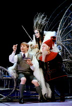THE LION, THE WITCH AND THE WARDROBE  by C.S.Lewis  dramatised by Adrian Mitchell  design: Anthony Ward  lighting: Mark Henderson  director: Adrian Noble ~l-r: Jonathan Broadbent (Edmund), Estelle Koh...
