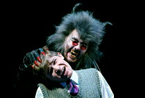 THE LION, THE WITCH AND THE WARDROBE  by C.S.Lewis  dramatised by Adrian Mitchell  design: Anthony Ward  lighting: Mark Henderson  director: Adrian Noble ~~Jonathan Broadbent (Edmund), Christopher Wel...