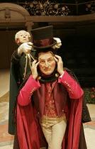 'LONDON ASSURANCE' (Boucicault - director: Jacob Murray),l-r: Murray Melvin (Cool), Gerald Harper (Sir Harcourt Courtly),Royal Exchange Theatre, Manchester    06/12/2004,