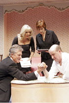 'LOSING LOUIS' (Simon Mendes da Costa - director: Robin Lefevre),l-r: Brian Protheroe (Reggie), Alison Steadman (Sheila), Lynda Bellingham (Elizabeth), David Horovitch (Tony),Hampstead Theatre, London...