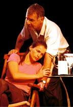 'MY ZINC BED' (Hare)~Julia Ormond (Elsa), Tom Wilkinson (Victor)~Royal Court Theatre, London SW1  14/09/2000