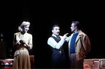 'CITY OF ANGELS' (Gelbart/Coleman/Zippel - director: Michael Blakemore)~l-r: Haydn Gwynne (Oolie/Donna), Henry Goodman (Buddy Fidler/Irwin S. Irving), Martin Smith (Stine)~Prince of Wales Theatre, Lon...