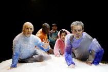 'EYES OF THE KAPPA' l-r: Ruth Posner, Ramon Vaughan-Williams, Jacqui Chan, Miki Shirane, Damien Thomas Gate Theatre, London W11                       28/03/2002