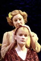 'THE GLASS MENAGERIE' (Tennessee Williams - director: Sam Mendes)~(front) Claire Skinner (Laura Wingfield), Zo' Wanamaker (Amanda Wingfield)~Donmar Warehouse production / Comedy Theatre, London SW1...