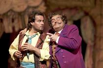'L'ELISIR D'AMORE' (Donizetti - conductor: Evelino Pido   original director: John Copley)~l-r: Jos Bros (Nemorino), Bruno Pola (Dulcamara)~The Royal Opera / Covent Garden   London WC2...