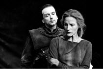 'THE CASTLE' (Howard Barker - director: Nick Hamm)~Ian McDiarmid (Stucley), Penny Downie (Ann) ~Royal Shakespeare Company / The Pit, Barbican Theatre, London EC2        16/10/1985
